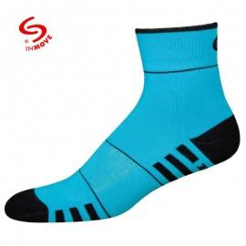 Wit blauwe fitness sportsokken dames - 1